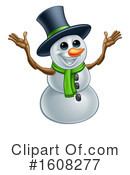 Snowman Clipart #1608277 by AtStockIllustration