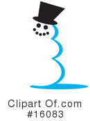 Royalty-Free (RF) Snowman Clipart Illustration #16083