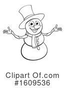 Snowman Clipart #1609536 by AtStockIllustration