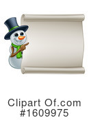 Snowman Clipart #1609975 by AtStockIllustration
