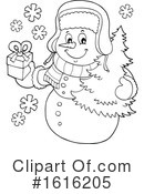 Snowman Clipart #1616205 by visekart
