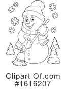 Snowman Clipart #1616207 by visekart