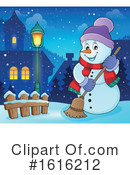 Snowman Clipart #1616212 by visekart
