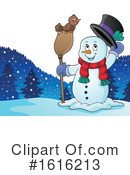 Snowman Clipart #1616213 by visekart