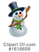 Snowman Clipart #1616609 by AtStockIllustration