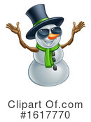Snowman Clipart #1617770 by AtStockIllustration