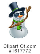 Snowman Clipart #1617772 by AtStockIllustration