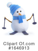 Snowman Clipart #1646913 by Steve Young