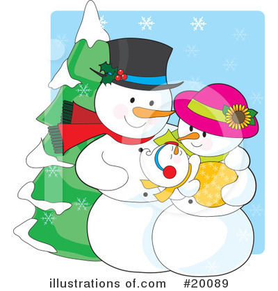 Royalty-Free (RF) Snowman Clipart Illustration by Maria Bell - Stock Sample #20089
