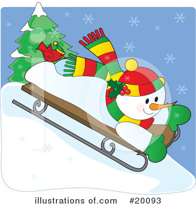 Royalty-Free (RF) Snowman Clipart Illustration by Maria Bell - Stock Sample #20093