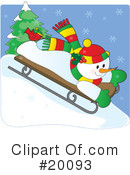 Royalty-Free (RF) Snowman Clipart Illustration #20093