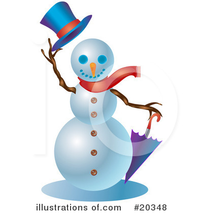 Royalty-Free (RF) Snowman Clipart Illustration by Tonis Pan - Stock Sample #20348