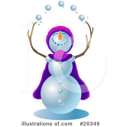 Royalty-Free (RF) Snowman Clipart Illustration by Tonis Pan - Stock Sample #20349
