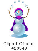 Royalty-Free (RF) snowman Clipart Illustration #20349