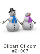 Snowman Clipart #21007 by 3poD