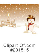Snowman Clipart #231515 by Pushkin