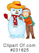Royalty-Free (RF) snowman Clipart Illustration #231825