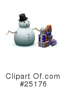 Royalty-Free (RF) snowman Clipart Illustration #25176