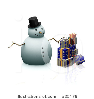 Royalty-Free (RF) Snowman Clipart Illustration by KJ Pargeter - Stock Sample #25178