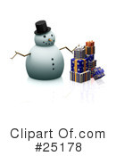 Royalty-Free (RF) Snowman Clipart Illustration #25178