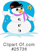 Royalty-Free (RF) Snowman Clipart Illustration #25736