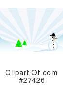 Royalty-Free (RF) Snowman Clipart Illustration #27426