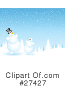 Royalty-Free (RF) snowman Clipart Illustration #27427