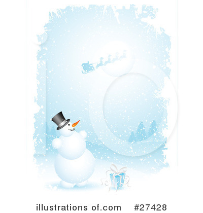 Royalty-Free (RF) Snowman Clipart Illustration by KJ Pargeter - Stock Sample #27428