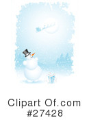 Royalty-Free (RF) Snowman Clipart Illustration #27428