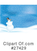Royalty-Free (RF) snowman Clipart Illustration #27429