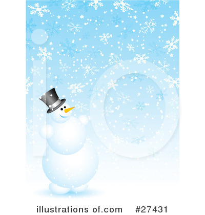 Royalty-Free (RF) Snowman Clipart Illustration by KJ Pargeter - Stock Sample #27431
