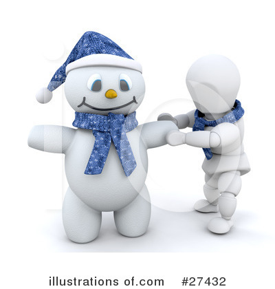 Royalty-Free (RF) Snowman Clipart Illustration by KJ Pargeter - Stock Sample #27432