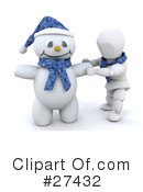 Royalty-Free (RF) Snowman Clipart Illustration #27432