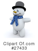 Royalty-Free (RF) snowman Clipart Illustration #27433