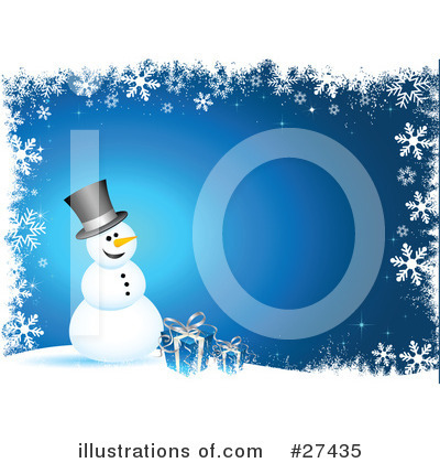 Royalty-Free (RF) Snowman Clipart Illustration by KJ Pargeter - Stock Sample #27435