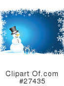 Royalty-Free (RF) snowman Clipart Illustration #27435