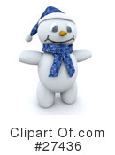 Royalty-Free (RF) snowman Clipart Illustration #27436