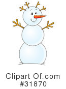 Royalty-Free (RF) snowman Clipart Illustration #31870