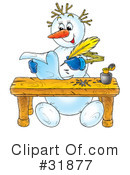Royalty-Free (RF) snowman Clipart Illustration #31877