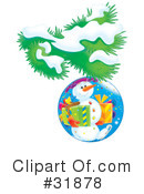 Royalty-Free (RF) snowman Clipart Illustration #31878