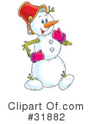 Royalty-Free (RF) snowman Clipart Illustration #31882