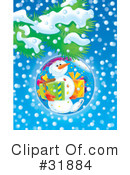 Royalty-Free (RF) snowman Clipart Illustration #31884