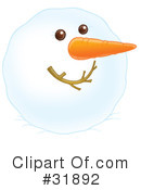 Royalty-Free (RF) snowman Clipart Illustration #31892