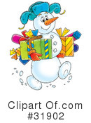 Royalty-Free (RF) snowman Clipart Illustration #31902