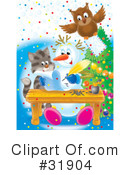 Royalty-Free (RF) snowman Clipart Illustration #31904