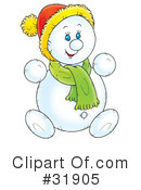 Royalty-Free (RF) snowman Clipart Illustration #31905