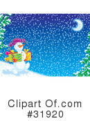 Royalty-Free (RF) snowman Clipart Illustration #31920