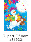 Royalty-Free (RF) snowman Clipart Illustration #31933