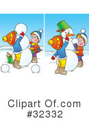 Snowman Clipart #32332 by Alex Bannykh