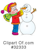Snowman Clipart #32333 by Alex Bannykh